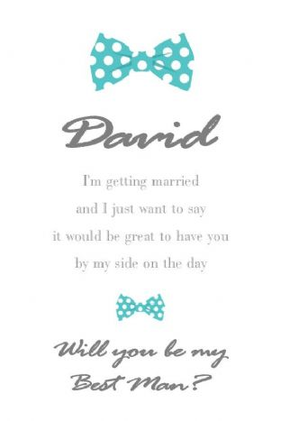 Will you be my Best Man Card Design 4